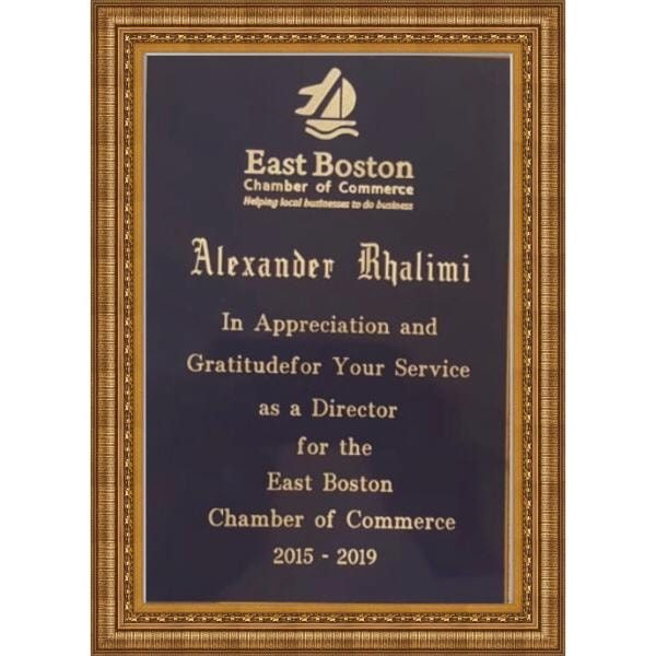 The president of MAC was awarded from East Boston Chamber of Commerce.